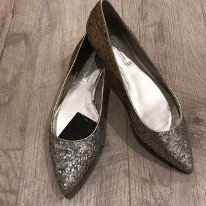 Zara flats sparkles ombré size 8 or 39euro, new